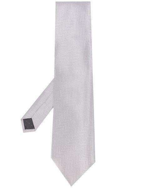 Серебряный шелковый галстук Gianfranco Ferre Pre-owned
