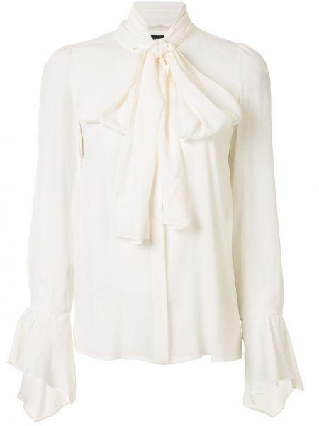 Белый пиджак твидовый на пуговицах Paule Ka