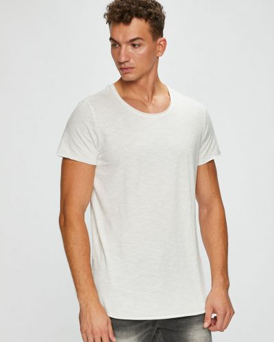 Белая футболка однотонная Jack & Jones