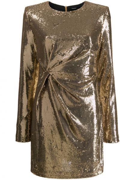 Однобортное приталенное вечернее платье с пайетками P.a.r.o.s.h.