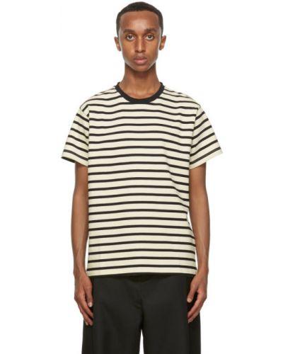 С рукавами черная рубашка с короткими рукавами с воротником с нашивками Second/layer