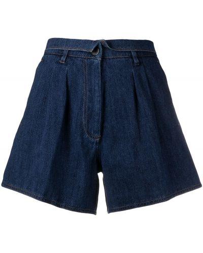 Хлопковые джинсовые шорты с карманами с отворотом Forte Forte