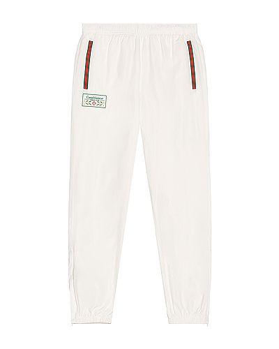 Biały dres bawełniany z haftem Casablanca