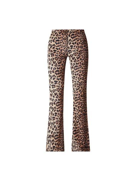 Brązowe spodnie z printem Catwalk Junkie