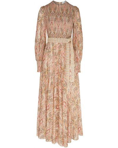 Платье макси с бисером с поясом Zimmermann