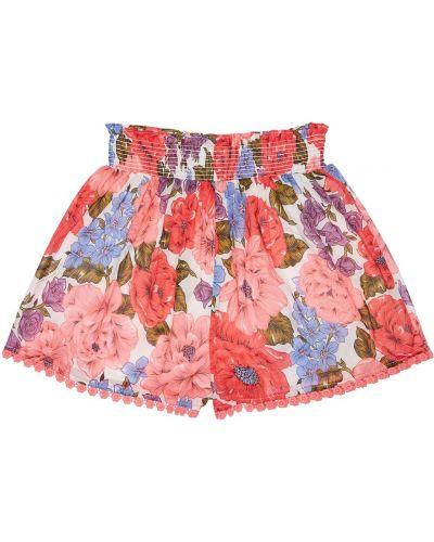Bawełna bawełna szorty elastyczny wzór w kwiaty Zimmermann