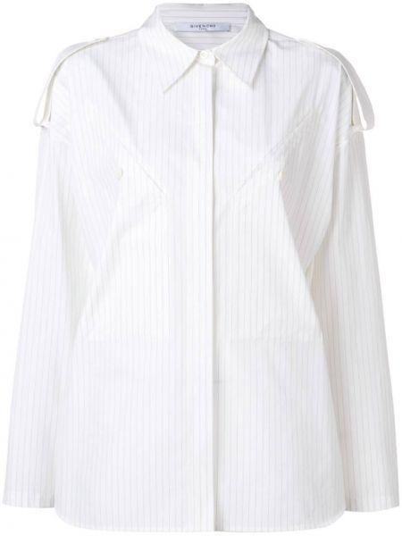 Klasyczna koszula bawełniana w paski z długimi rękawami Givenchy