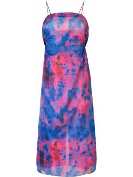 Платье на бретелях синее Rokh