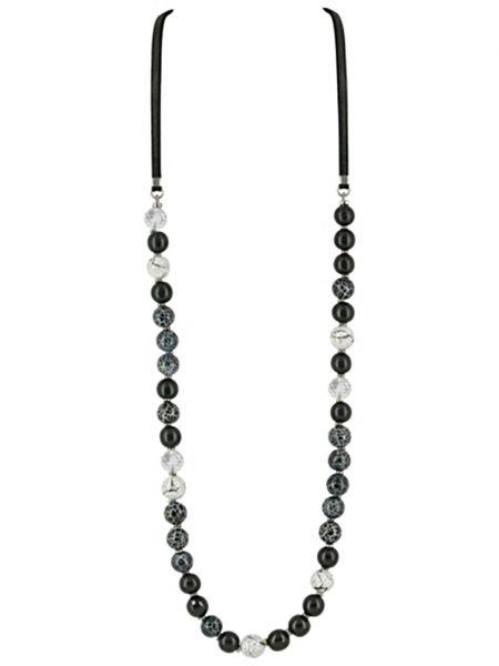 Черное ожерелье с агатом Nature Bijoux