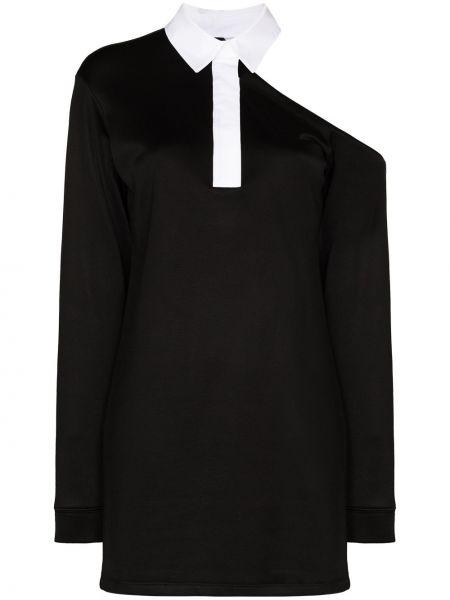 Czarna sukienka z długimi rękawami Rta
