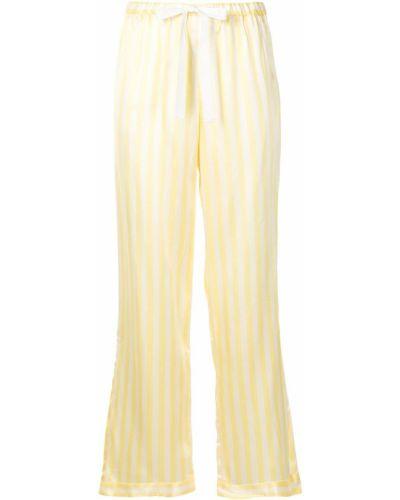 Желтые брюки в полоску эластичные Morgan Lane