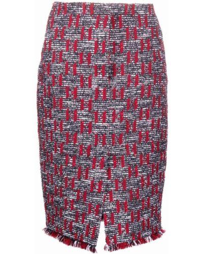 Шерстяная юбка - красная Karl Lagerfeld