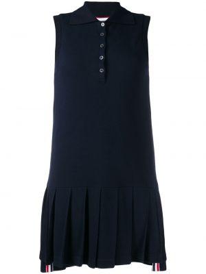 Классическое плиссированное с заниженной талией платье с воротником Thom Browne