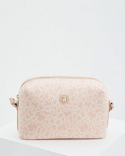 Розовая кожаная сумка через плечо Tous