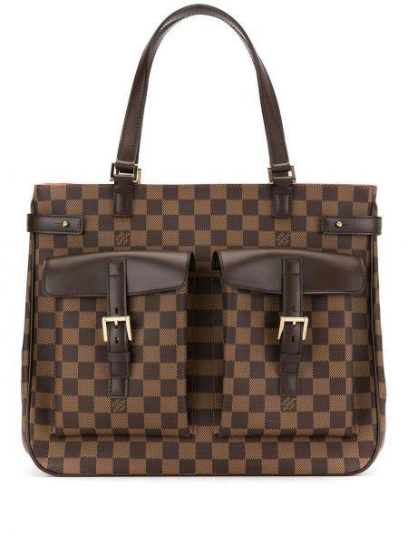 Skórzana torebka na ramię z płótna Louis Vuitton Pre-owned