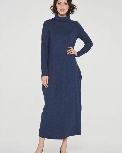 Платье макси синее Vay