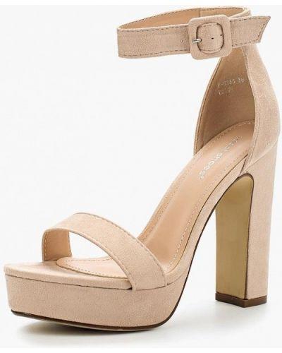 Босоножки на каблуке текстильный Ideal Shoes®