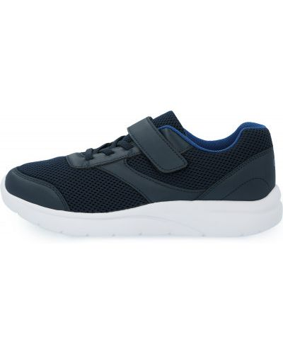 Синие кожаные кроссовки Gsd