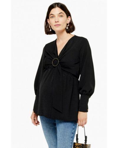 Блузка с длинным рукавом для беременных черная Topshop Maternity