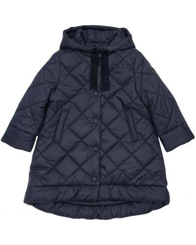 Nylon niebieski pikowana płaszcz z kieszeniami Il Gufo