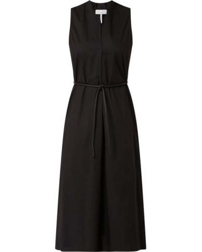 Sukienka midi bawełniana - czarna Cinque
