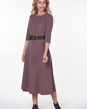 Платье миди с поясом платье-сарафан Valentina