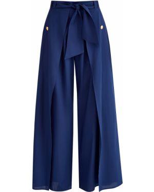 Свободные брюки с запахом с карманами Balmain