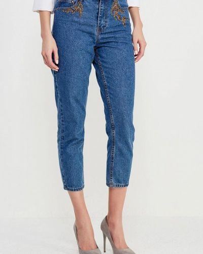Синие джинсы с высокой посадкой Lost Ink.