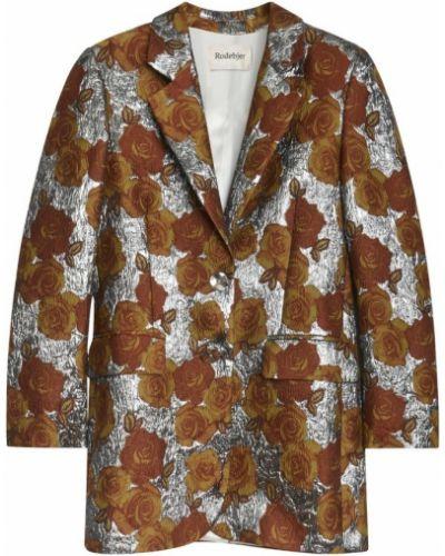 Brązowa kurtka materiałowa Rodebjer
