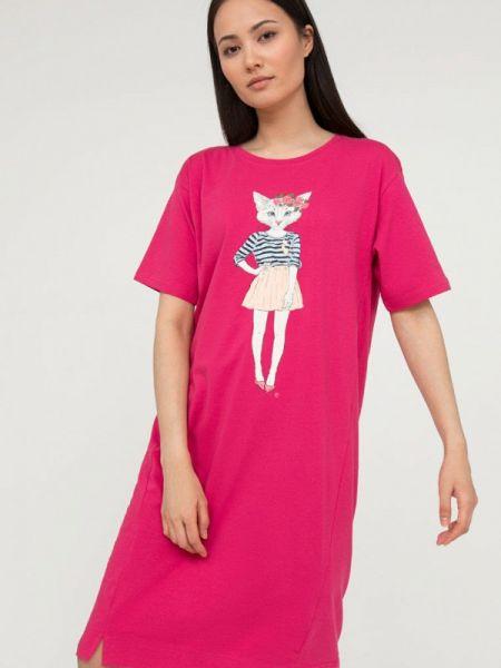 Платье розовое футболка Finn Flare