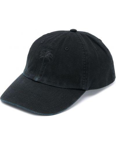 Хлопковая черная кепка с вышивкой Palm Angels