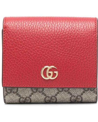 Skórzany portfel z kieszeniami z gniazdem Gucci