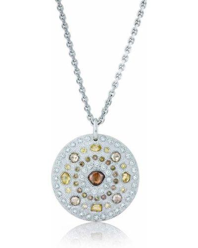 Цепочка из золота золотая с подвесками с бриллиантом De Beers