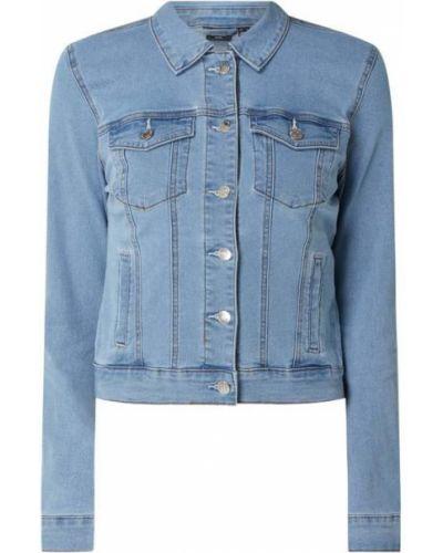 Niebieski bawełna kurtka jeansowa z kołnierzem Vero Moda