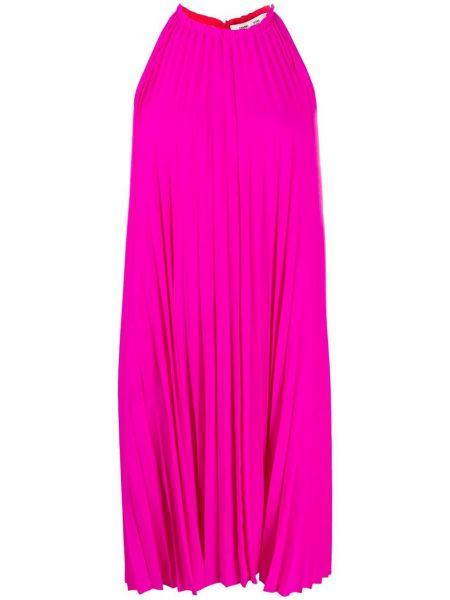 Плиссированное розовое платье квадратное Dvf Diane Von Furstenberg