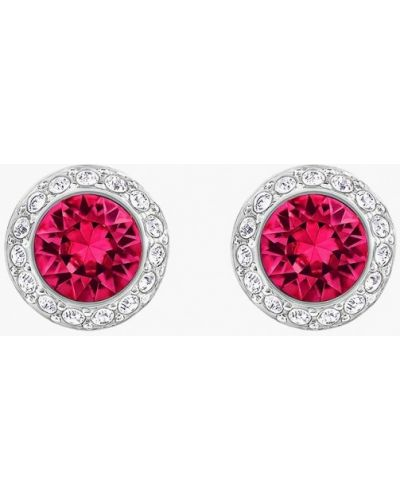 Розовые серьги маленькие Swarovski