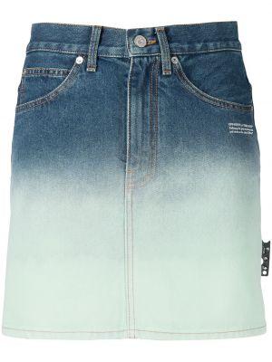 С завышенной талией белая джинсовая юбка с карманами Off-white