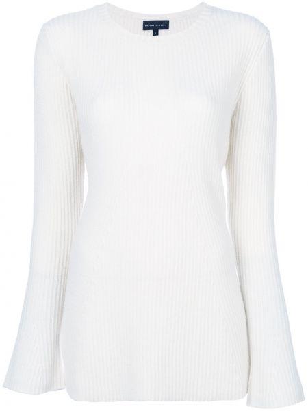 Белый кашемировый свитер с круглым вырезом круглый Cashmere In Love
