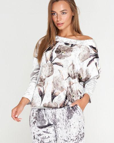Блузка с длинным рукавом серая Sellin