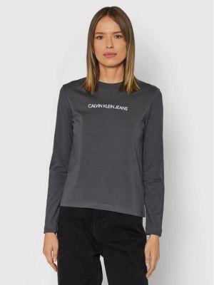 Bluzka - szara Calvin Klein Jeans
