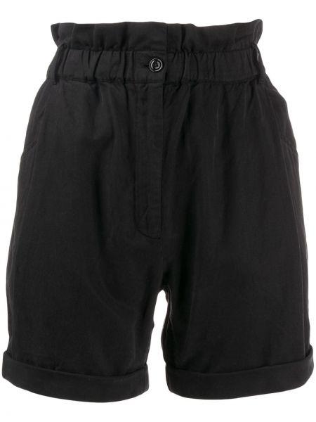 Короткие шорты с оборками черные Frame