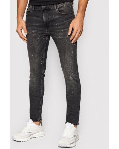 Mom jeans - czarne Karl Lagerfeld