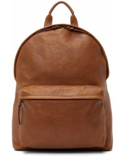 Кожаный рюкзак хаки с карманами Officine Creative