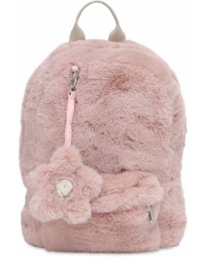 Satynowy różowy plecak Il Gufo