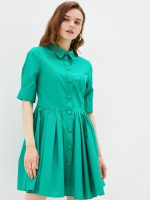 Зеленое платье рубашка Imperial