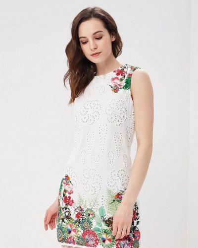Белое платье весеннее Desigual