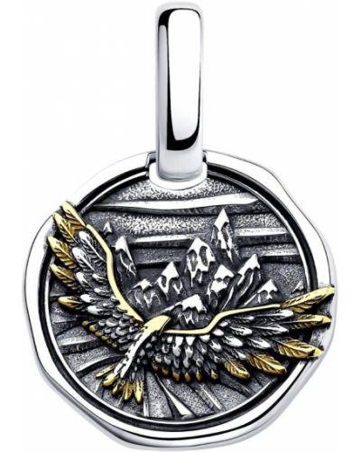 Медальон золотой с подвесками позолоченный Sokolov