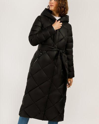 Пальто с поясом - черное Finn Flare