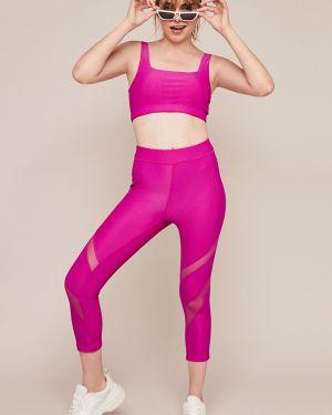 Спортивный бюстгальтер без косточек розовый Undiz