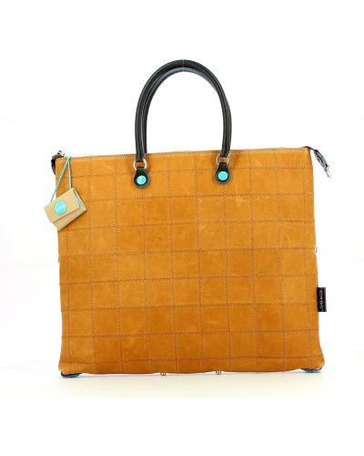 Кожаная сумка через плечо - коричневая Gabs